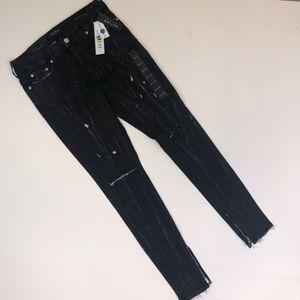 PacSun black marble jeans